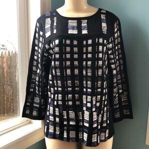 Nic + Zoe Black Professional Dress Sweater
